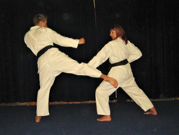 karate kick block
